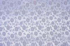 Zilveren zijdedoek als achtergrond Stock Fotografie