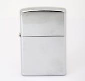 Zilveren zippoaansteker stock afbeeldingen