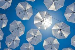 Zilveren zon Stock Afbeelding