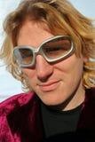 Zilveren zonnebril stock foto's