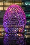Zim światła przy Canary Wharf zawierają ampułę zaświecają instalaci Zdjęcia Stock