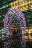 Zim światła przy Canary Wharf zawierają ampułę zaświecają instalaci Zdjęcie Royalty Free