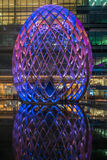Zim światła przy Canary Wharf zawierają ampułę zaświecają instalaci Zdjęcie Stock
