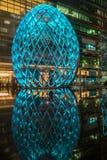 Zim światła przy Canary Wharf zawierają ampułę zaświecają instalaci Obrazy Royalty Free
