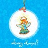 Zim bożych narodzeń anioł Obrazy Royalty Free