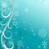 Zim bożych narodzeń błękitna rama ilustracja wektor