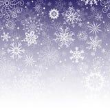 Zim bożych narodzeń fiołkowa gradientowa rama royalty ilustracja