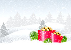 Zim bożych narodzeń krajobraz Zdjęcie Stock