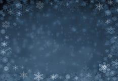 Zim bożych narodzeń tła czarownicy bielu płatek śniegu fotografia stock