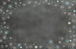 Zim bożych narodzeń tła czarownicy bielu płatek śniegu obraz royalty free