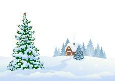 Zim drewna i domowy tło royalty ilustracja