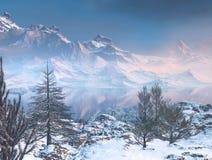 Zim góry ilustracji