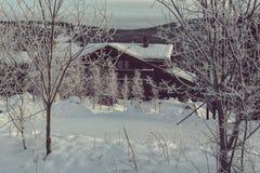 Zim góry Obraz Royalty Free
