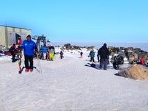 Zim góry, skłony w wysokogórskim ośrodku narciarskim Borovets, Bułgaria Obrazy Stock