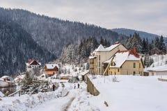 Zim Karpackie góry, Ukraina Fotografia Royalty Free