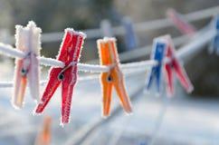 Zim klamerki Obraz Stock