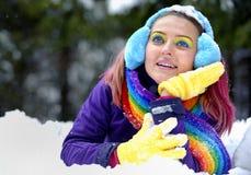 Zim kobiety Obrazy Stock
