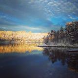 Zim krajobrazowi odbicia Obraz Royalty Free