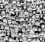 Zim ludzie - bezszwowy wzór royalty ilustracja