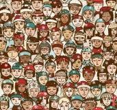 Zim ludzie - bezszwowy wzór ilustracji