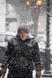 2017 zim śniegu zimy streetsczpe Obrazy Royalty Free