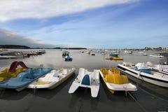 Zim łodzie Obraz Royalty Free
