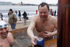Zim Pływackie rywalizacje Fotografia Stock