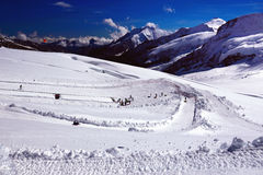 Zim Plenerowe rozrywki w Szwajcarskich Alps Jungfraujoch, wierzchołek Europa (/) Zdjęcia Stock