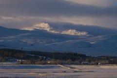 Zim sceny w Szkockich średniogórzach Fotografia Royalty Free