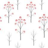 Zim seamles wektoru lasowy wzór Zdjęcia Royalty Free