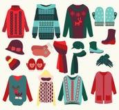 Zim ubrań wygodna kolekcja Obraz Royalty Free