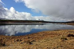 Zima śnieg na Cul Mor, północno zachodni Szkoccy średniogórza Zdjęcie Royalty Free