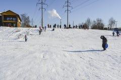 Zima aktywność Zdjęcia Stock