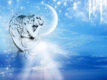 Zima anioł Zdjęcia Stock