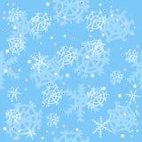 Zima błękitny wzór Zdjęcia Royalty Free