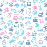 Zima Bezszwowy wzór Obraz Royalty Free