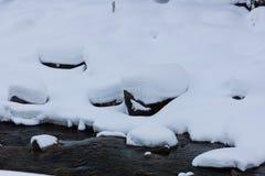 Zima blisko zatoczki Zdjęcie Royalty Free