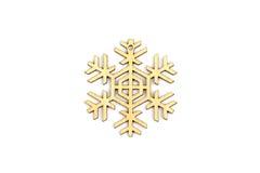 Zima, boże narodzenia, nowy rok drewniana dekoracja - płatek śniegu, gwiazda Obraz Stock