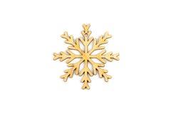 Zima, boże narodzenia, nowy rok drewniana dekoracja - płatek śniegu, gwiazda Zdjęcie Stock