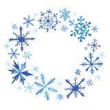 Zima Bożenarodzeniowy wianek w akwareli Zdjęcia Royalty Free