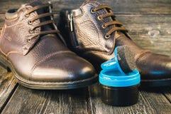Zima buty i obuwiany połysk zdjęcie royalty free