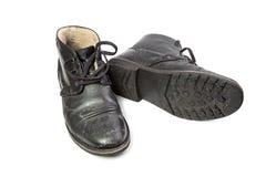 Zima buty z solą Fotografia Stock