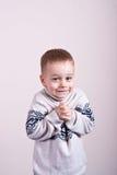 Zima chłopiec, troszkę Fotografia Royalty Free