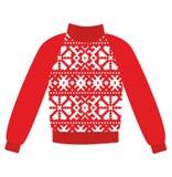 Zima ciepły pulower z ornamentem, Fotografia Royalty Free