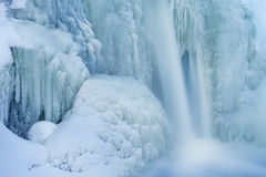 Zima, Comstock zatoczki kaskada Fotografia Stock