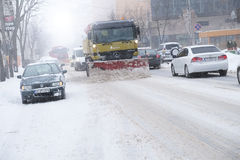 Zima czas w mieście Obrazy Stock