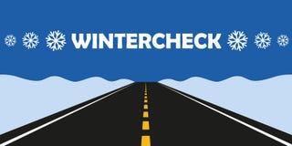 Zima czeka samochodowe opony zmieniają asfaltową drogę ilustracja wektor