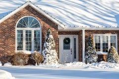 Zima dom Zdjęcie Royalty Free