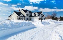 Zima dom obrazy stock