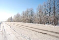 zima drogowa Zdjęcia Stock